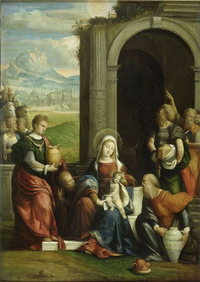 Garofalo: The Adoration of the Magi. Fine Art Print/Poster. Sizes: A4/A3/A2/A1 (004032)